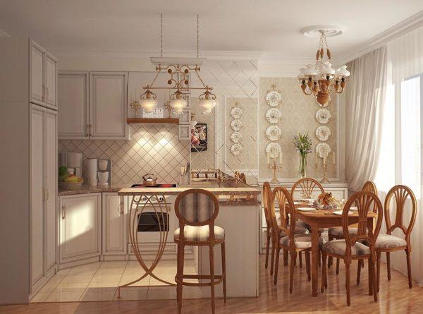 Какие вешают картины в кухне - в стиле прованс - фото