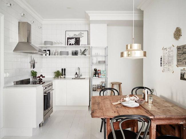 Какую картину повесить на кухне - скандинавский стиль - фото