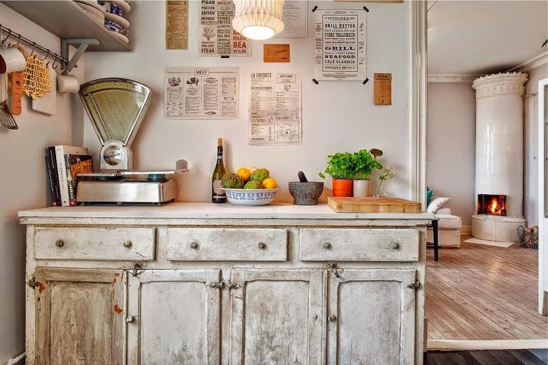 Какую картину повесить на кухне - стиль кантри - фото