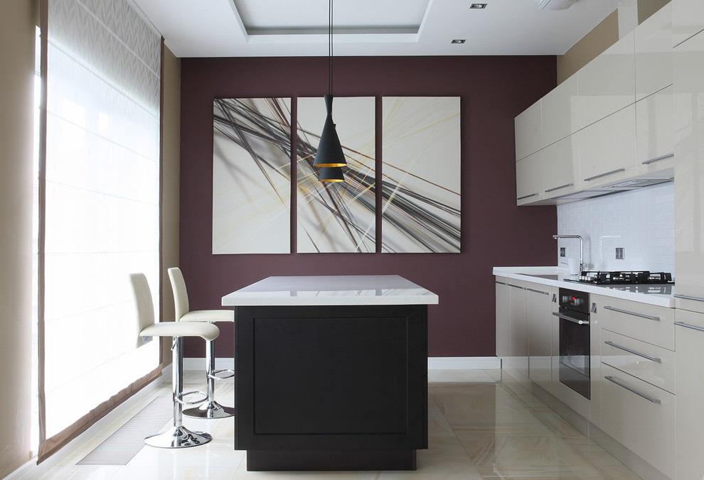 Какую картину повесить на кухне - стиль минимализм - фото
