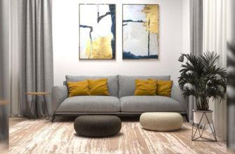 Картины для интерьера гостиной - фото