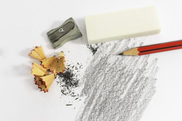 Лайфхаки для рисования карандашом - грфитовая стружка - фото