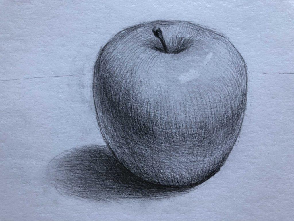 Рисуем яблоко с тенью 5 этап - фото