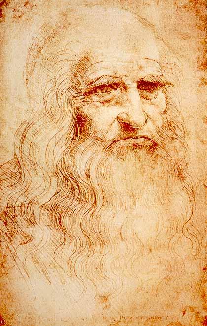 Рисунки сангиной известных художников - Леонардо да Винчи - фото