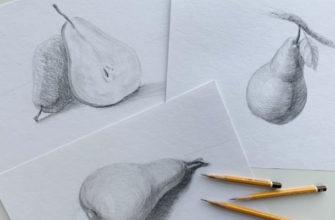Техника рисования груши поэтапно - фото