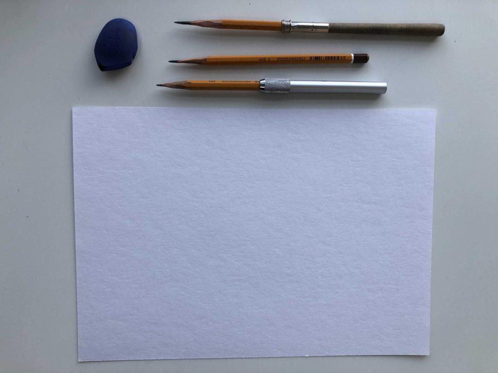 Техника рисования груши поэтапно - инвентарь - фото