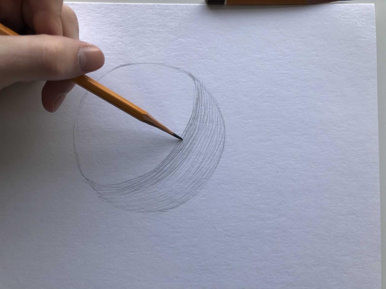 Виды штриховок в рисунке - контурная штриховка - фото