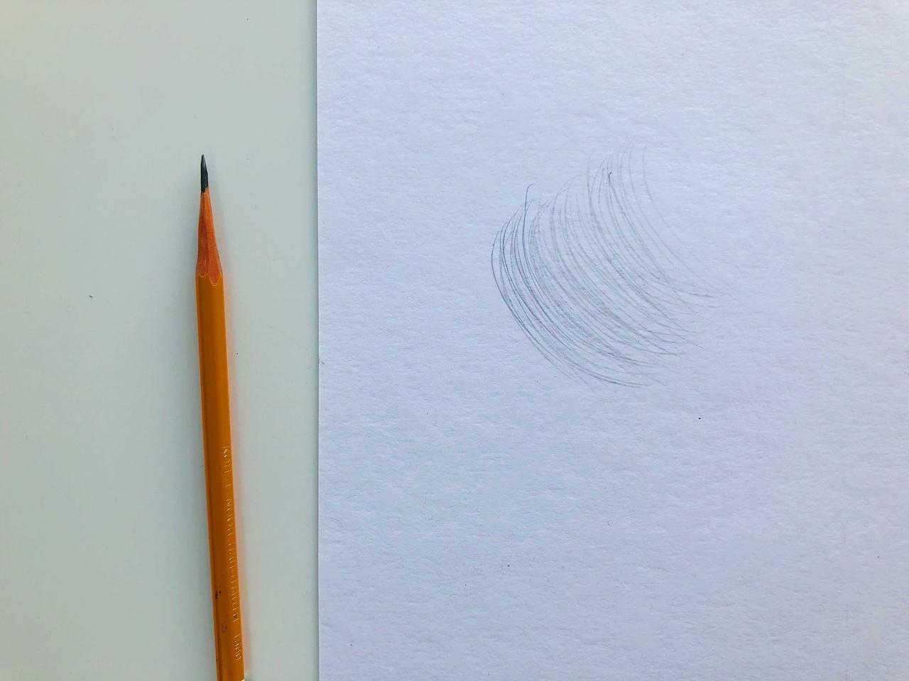 Виды штриховок в рисунке - круговая штриховка - фото
