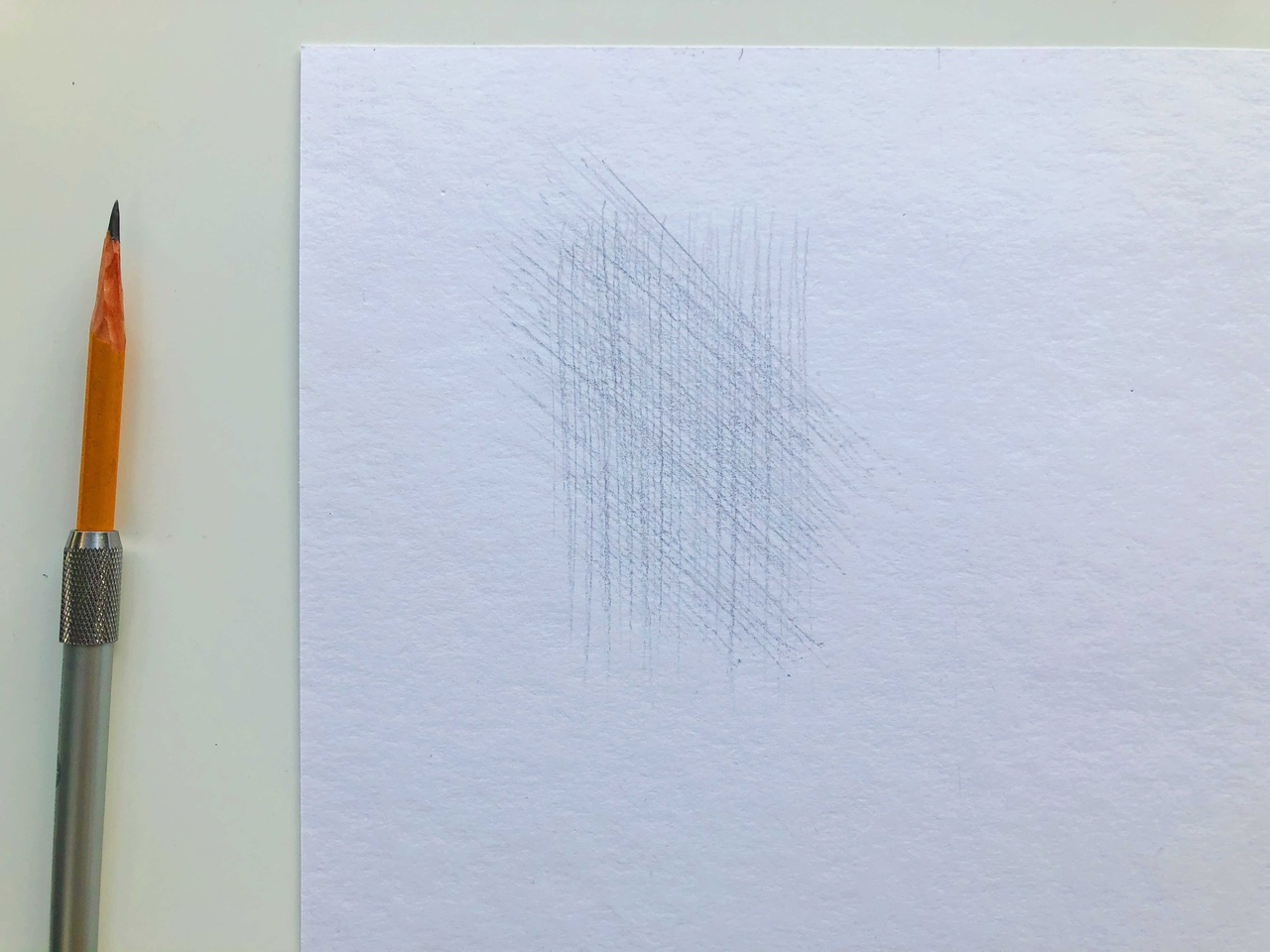 Виды штриховок в рисунке - перекрестная штриховка - фото