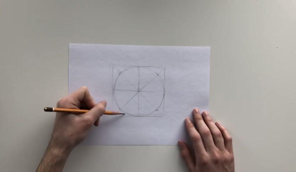 Как нарисовать карандашом шар поэтапно - 1 этап - фото