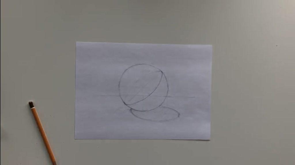 Как нарисовать карандашом шар поэтапно - 2 этап - фото