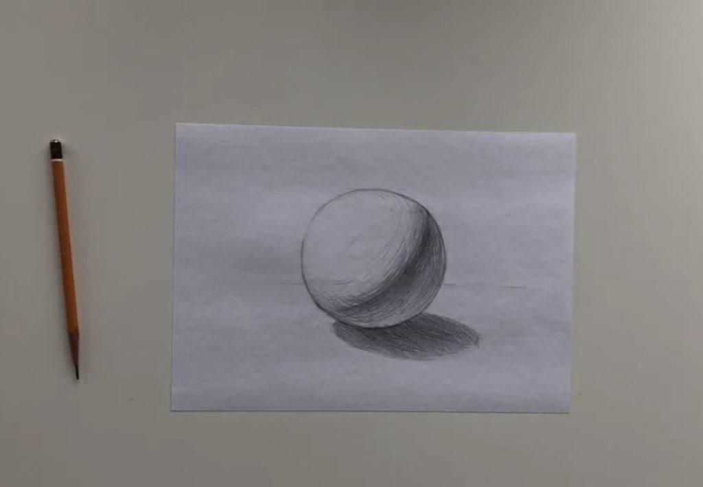 Как нарисовать карандашом шар поэтапно - 3 этап - фото