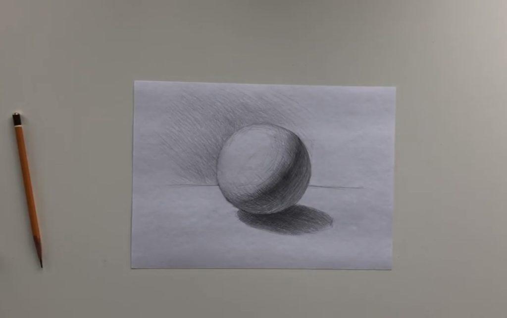 Как нарисовать карандашом шар поэтапно - 4 этап - фото