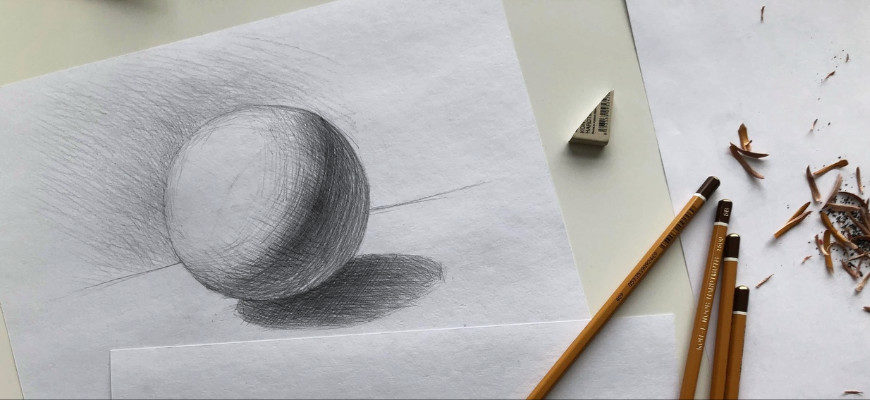 Как нарисовать карандашом шар поэтапно - фото