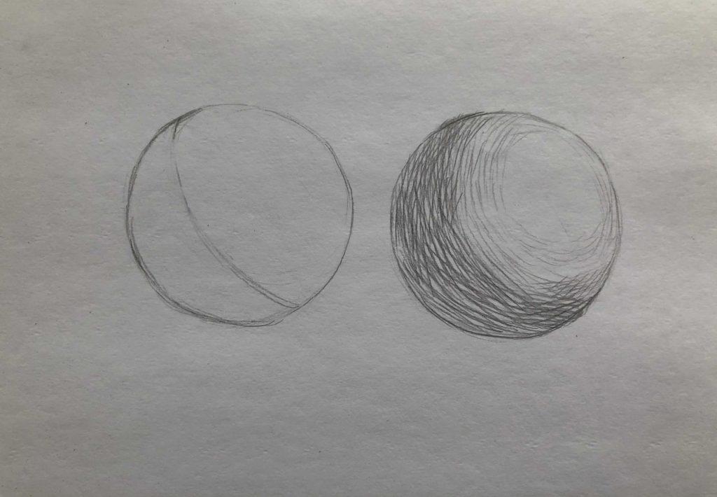 Как штриховать шар - 3 этап - фото