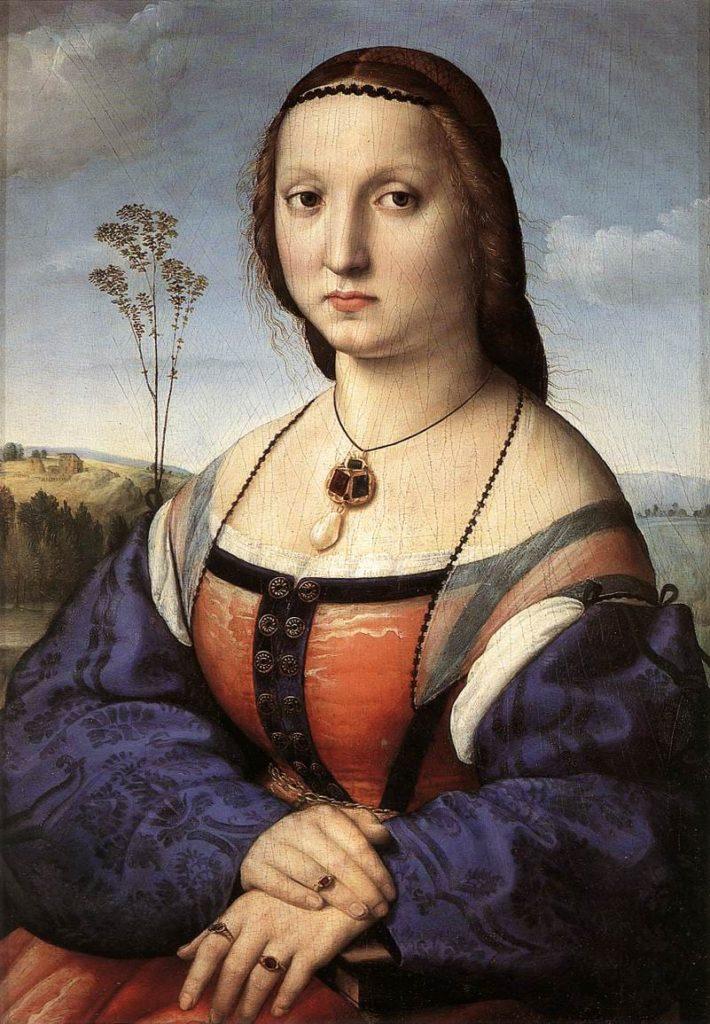 Рафаэль Санти художник - портрет Маддалены Дони - фото