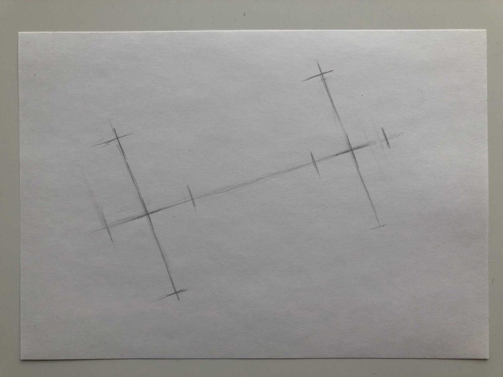 Как нарисовать цилиндр карандашом поэтапно - 1 этап лежачий цилиндр - фото