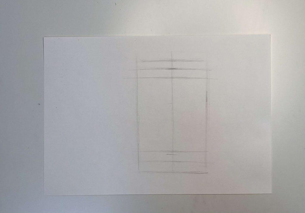 Как нарисовать цилиндр карандашом поэтапно - 1 этап цилиндр - фото