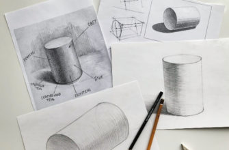 Как нарисовать цилиндр карандашом поэтапно - фото