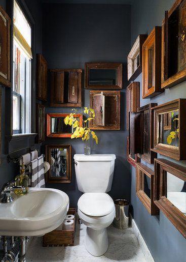 Картины для оформления ванной и туалета - зеркала - фото