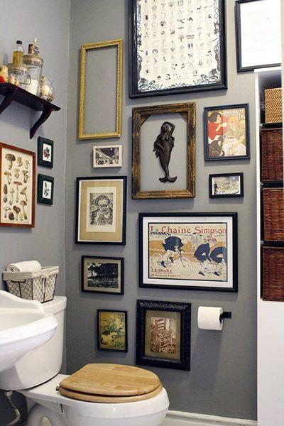 Картины для оформления ванной и туалета - галерея - фото