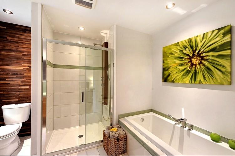 Картины для оформления ванной и туалета - зеленые тона - фото