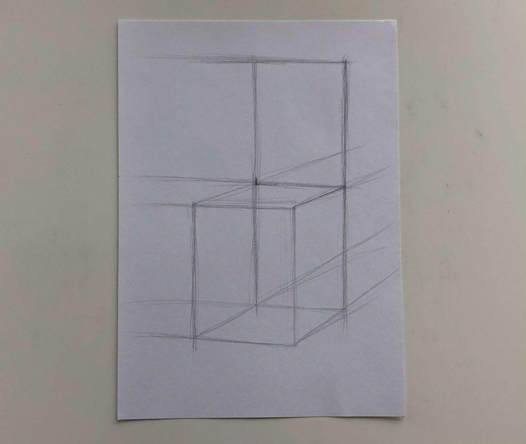 Как поэтапно нарисовать карандашом стул - 1 этап - фото