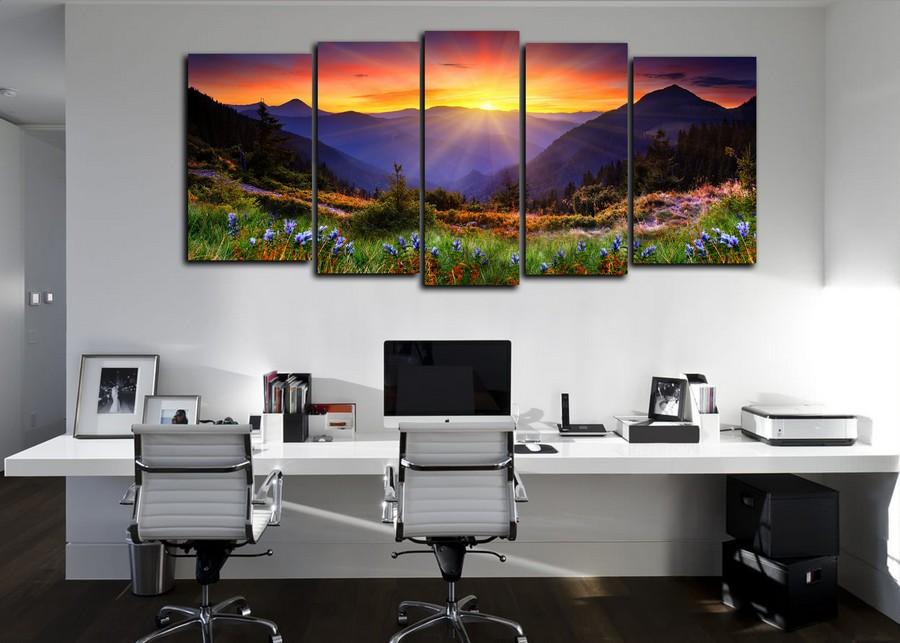 Какую картину повесить в офисе - пейзаж - фото