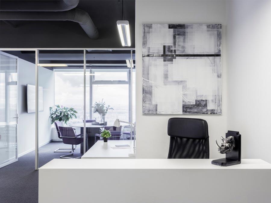 Какую картину повесить в офисе - абстракция - фото