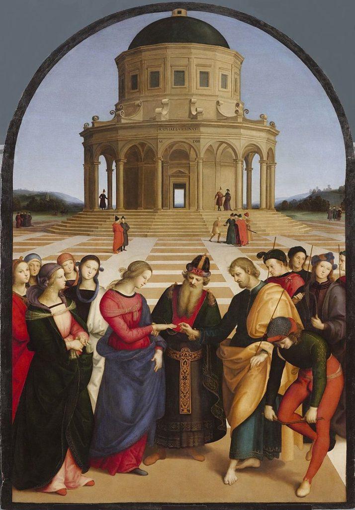Картины Рафаэля Санти - Обручение Девы Марии - фото