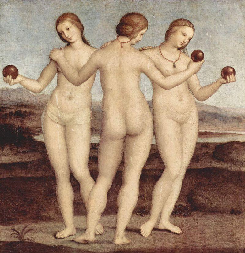 Картины Рафаэля Санти - Три грации - фото