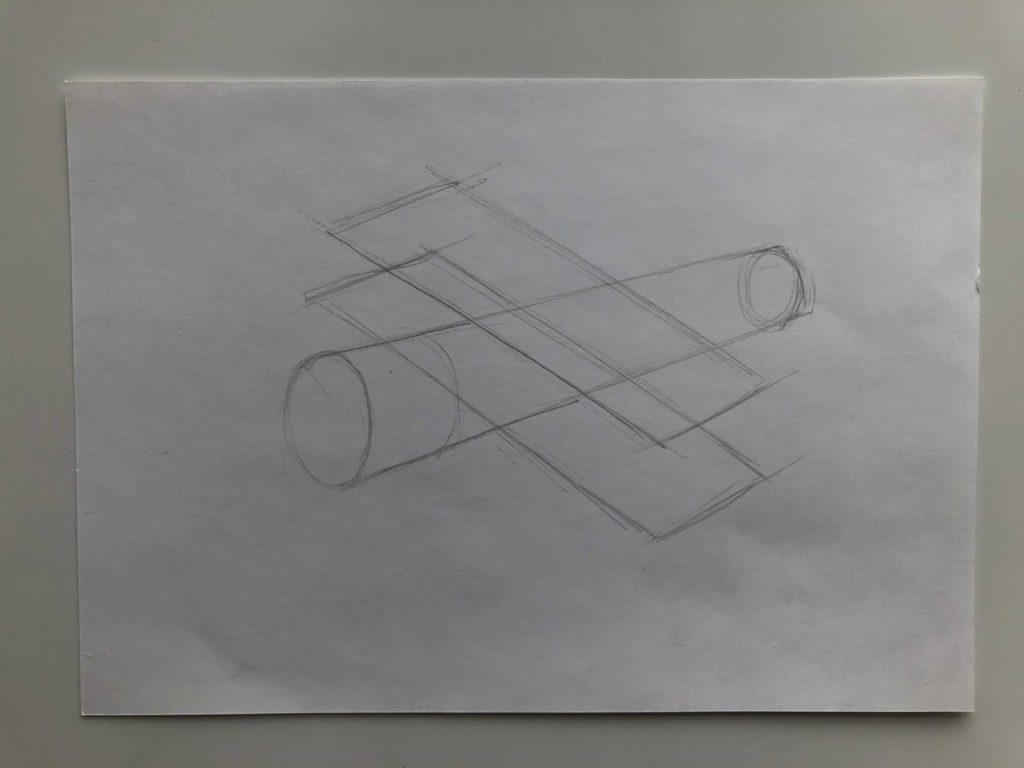 Как нарисовать самолет карандашом поэтапно - кукурузник 1 этап - фото