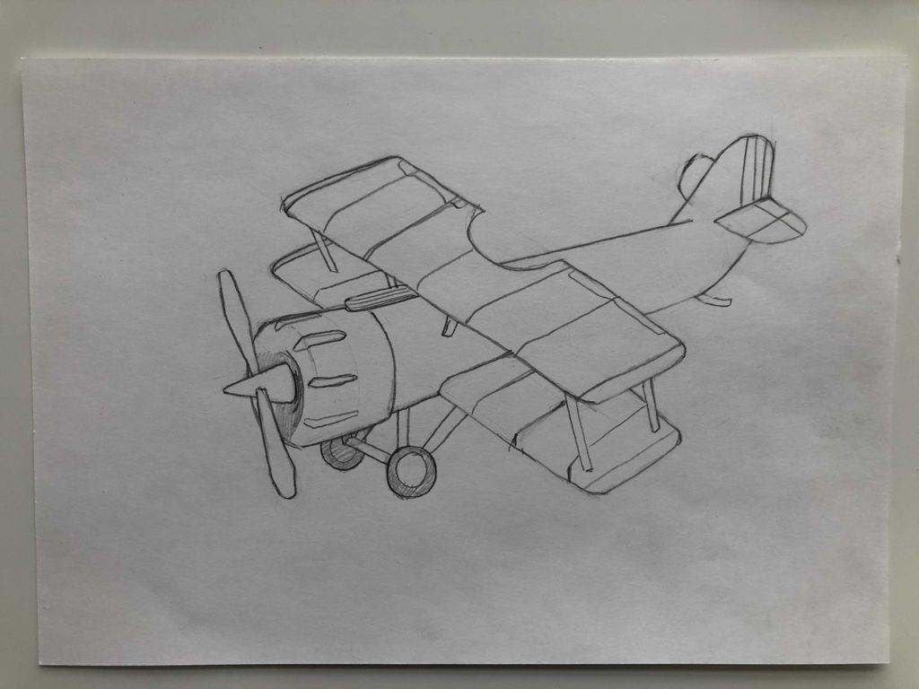 Как нарисовать самолет карандашом поэтапно - кукурузник 3 этап - фото