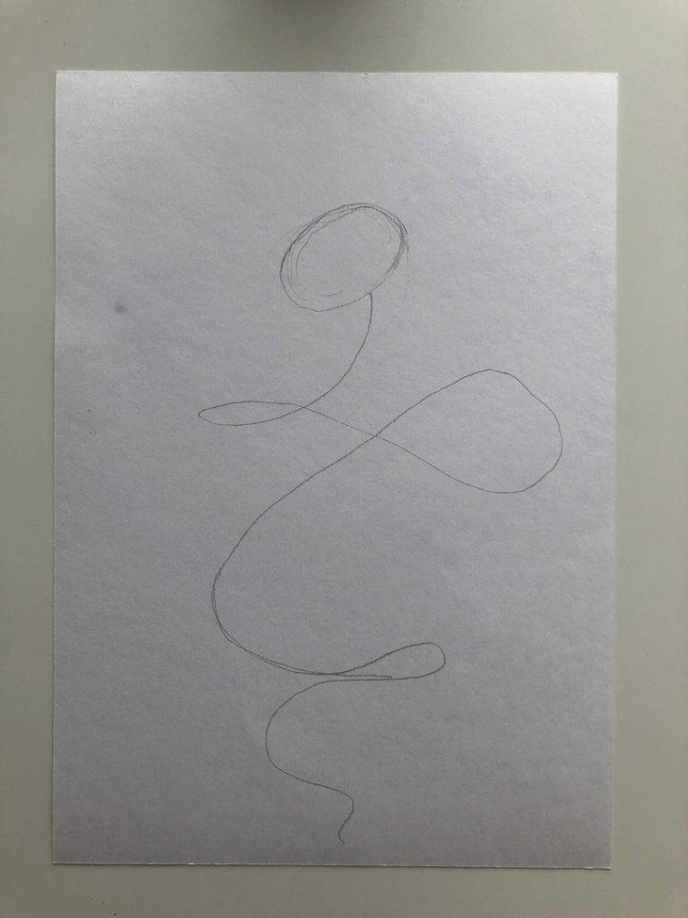 Как нарисовать змею карандашом поэтапно - кобра 1 этап - фото