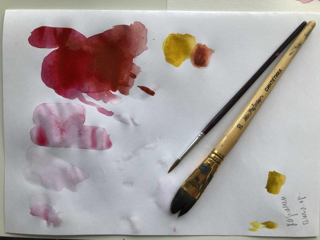 Как научиться рисовать акварелью - палитра - фото