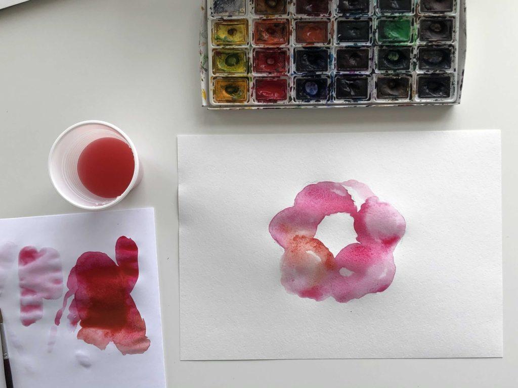 Как научиться рисовать акварелью цветок - 2 этап - фото