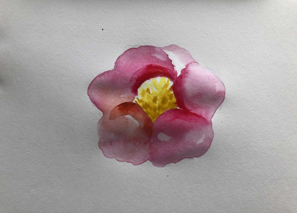 Как научиться рисовать акварелью цветок - 3 этап - фото