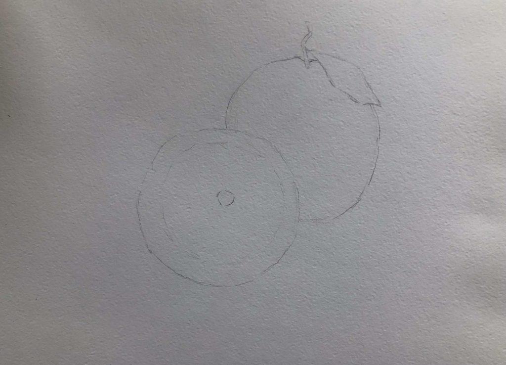 Как рисовать акварельными карандашами - 1 этап - фото