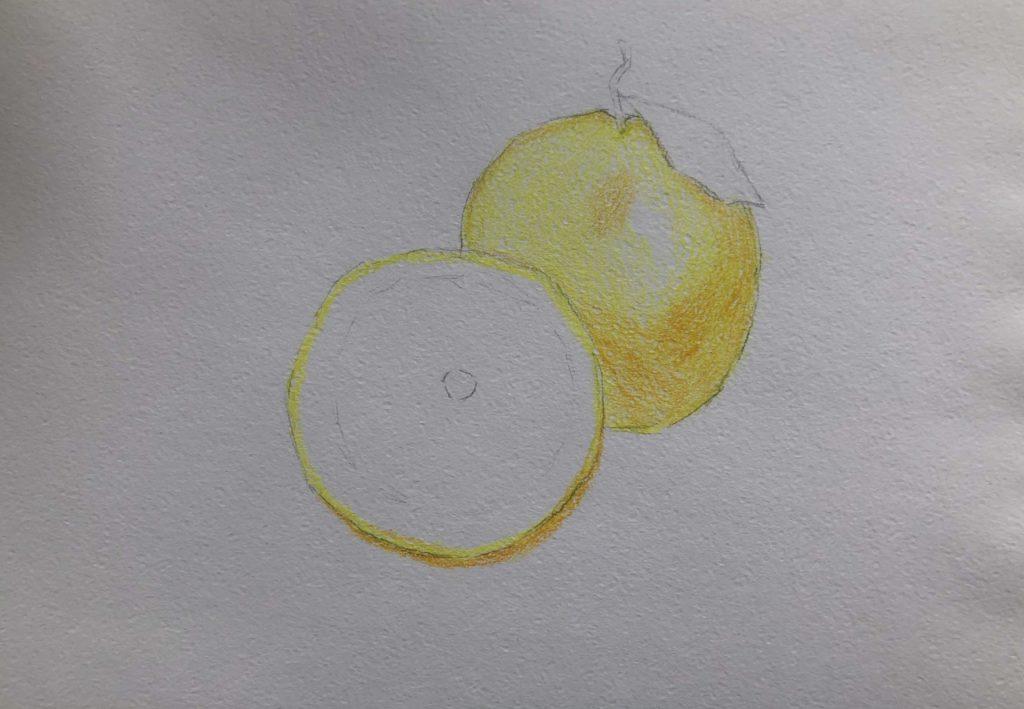 Как рисовать акварельными карандашами - 2 этап - фото