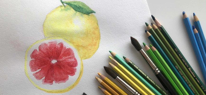 Как рисовать акварельными карандашами - фото