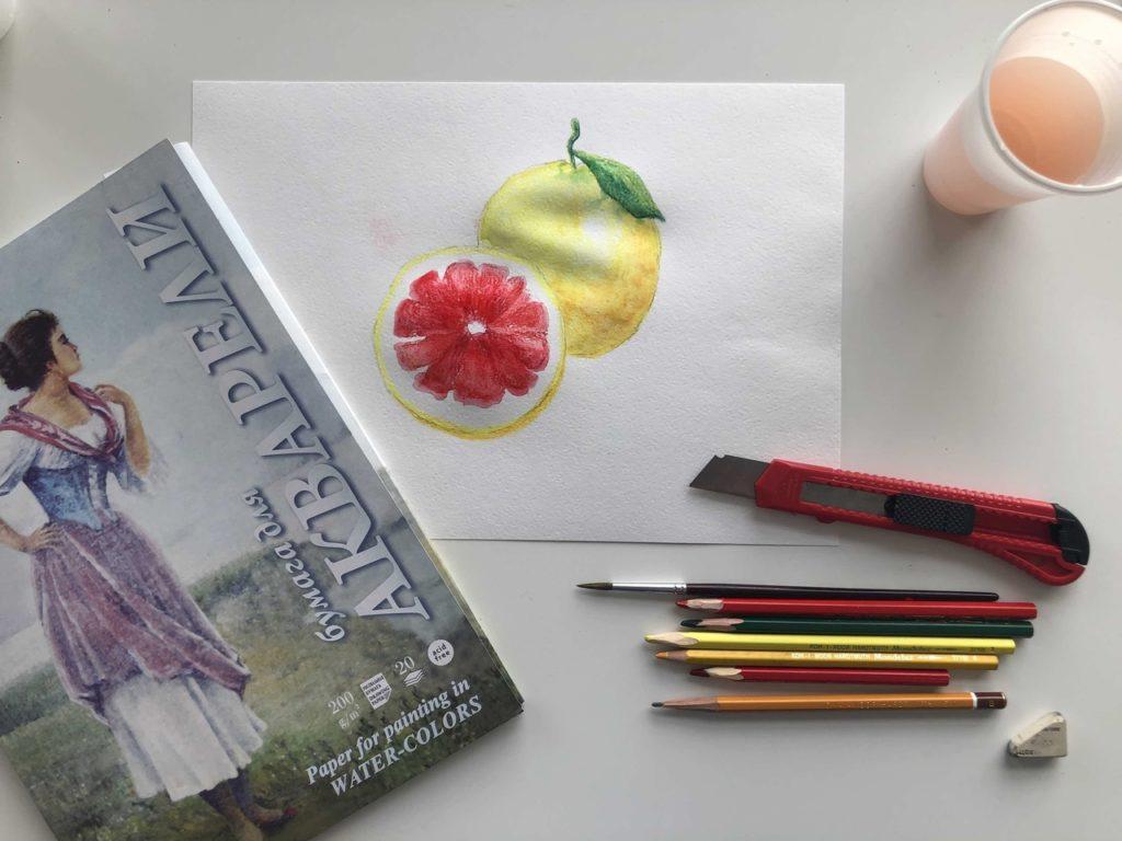 Как рисовать акварельными карандашами - инвентарь - фото