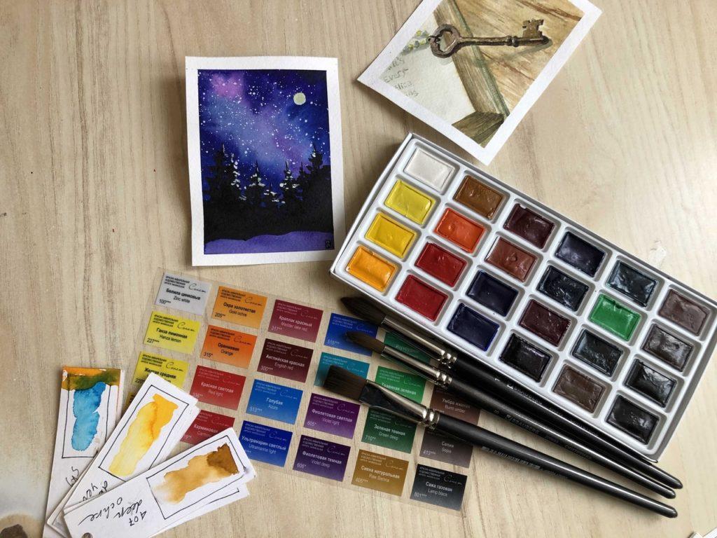 Лучшие профессиональные акварельные краски - Сонет - фото