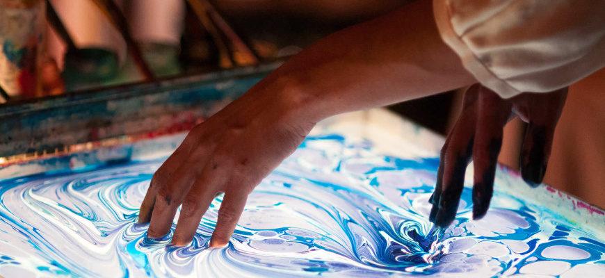 Техника Эбру - как рисовать по воде - фото