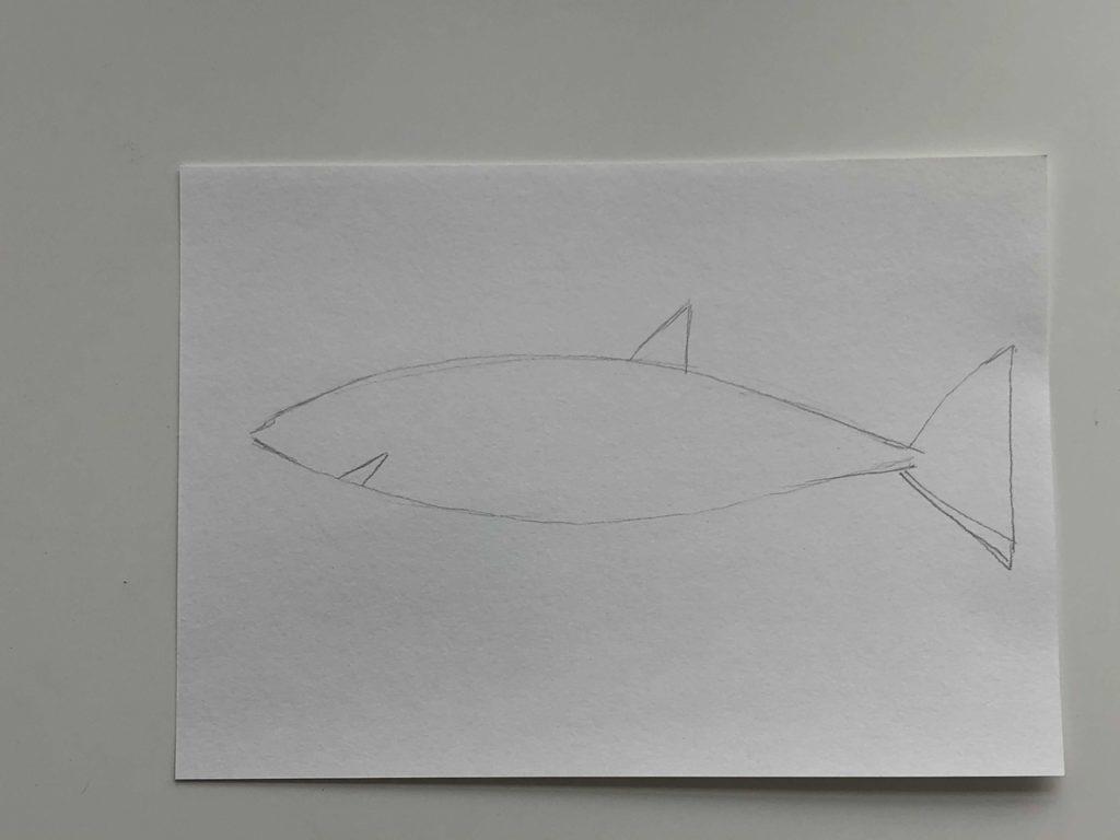 Как нарисовать акулу карандашом поэтапно - простая акула 1 этап - фото