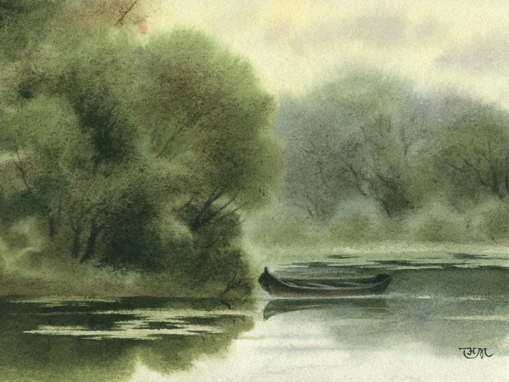 Техники рисования акварелью - английская техника - фото