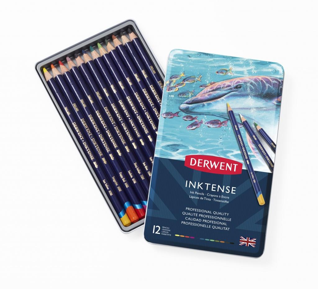 Лучшие марки акварельных карандашей - Derwent Inktense - фото