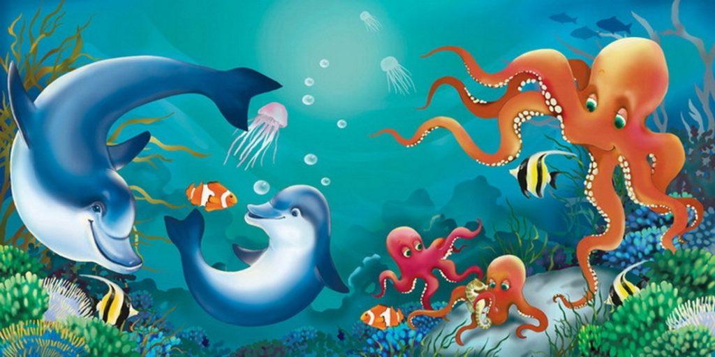 Идеи с фото для рисования дельфина - морской мир - фото