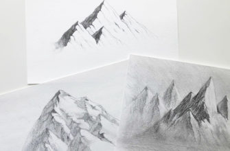 Как нарисовать горы карандашом - фото