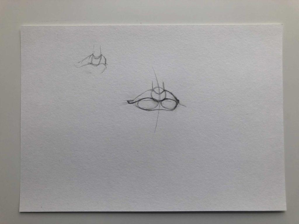 Как нарисовать губы полубоком - этап 2 - фото