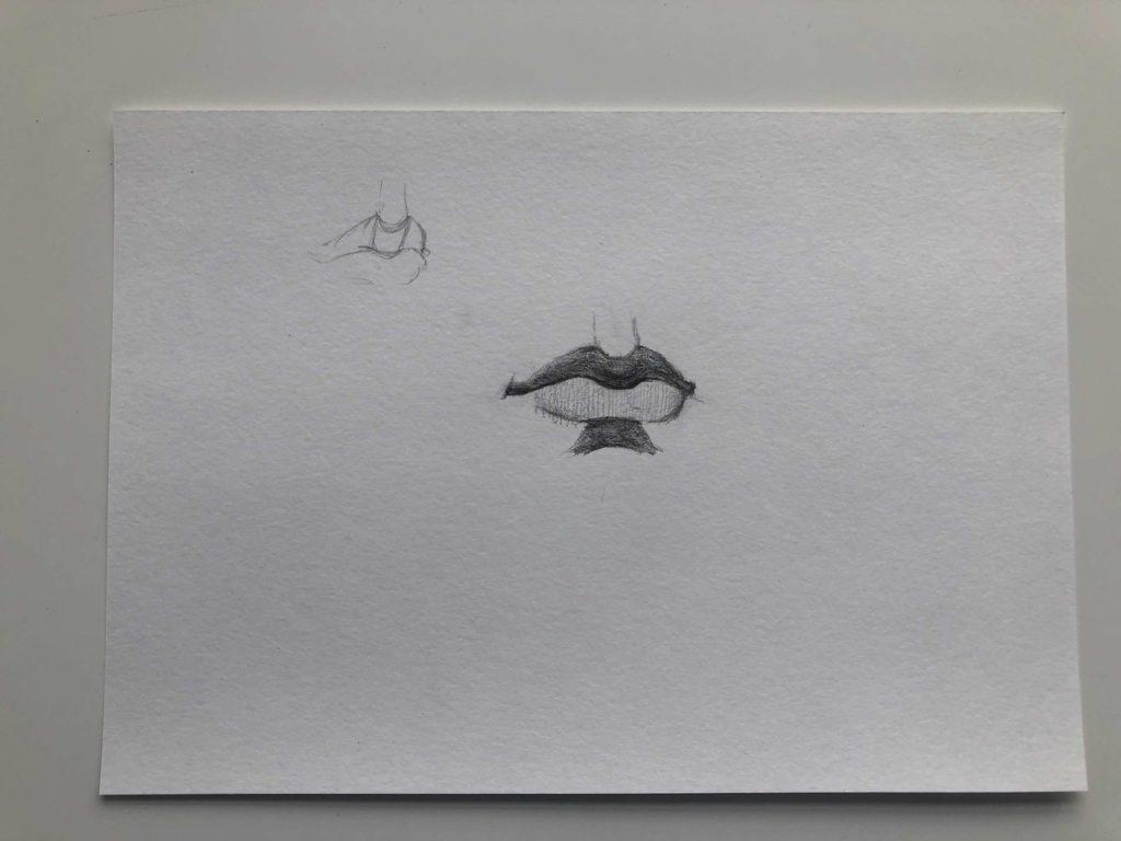 Как нарисовать губы полубоком - этап 3 - фото